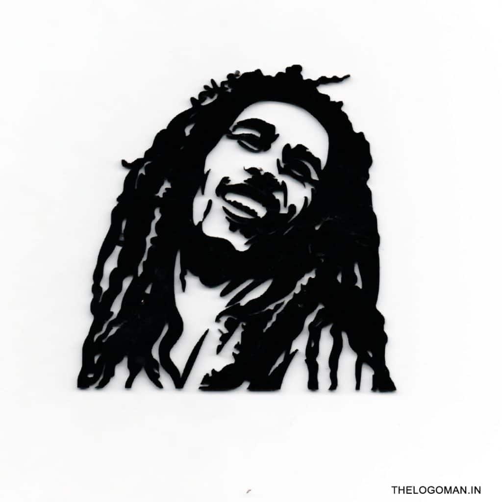 Bob Marley 3D Car/Bike Sticker - The Logo Man